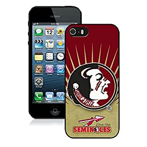 Beautiful Designed Case With NCAA Atlantic Coast Conference ACC Footballl Florida State Seminoles 2 Black For iPhone 5S Phone Case