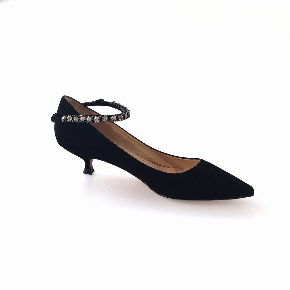 DHG Kleine und Schuhe Spitze Stiletto Princess Einzelne Schuhe und mit Damenschuhen,Schwarz,36 bc9346