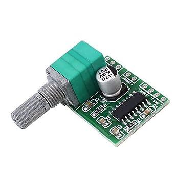 Amazon com: 2 Pcs PAM8403 3W+3W DC 5V Mini Audio Amplifier Board