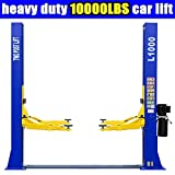 L1000 Car Lift 10,000 LB 2 Post Lift Car Auto Truck Hoist w/ 12 Month Warranty 220V