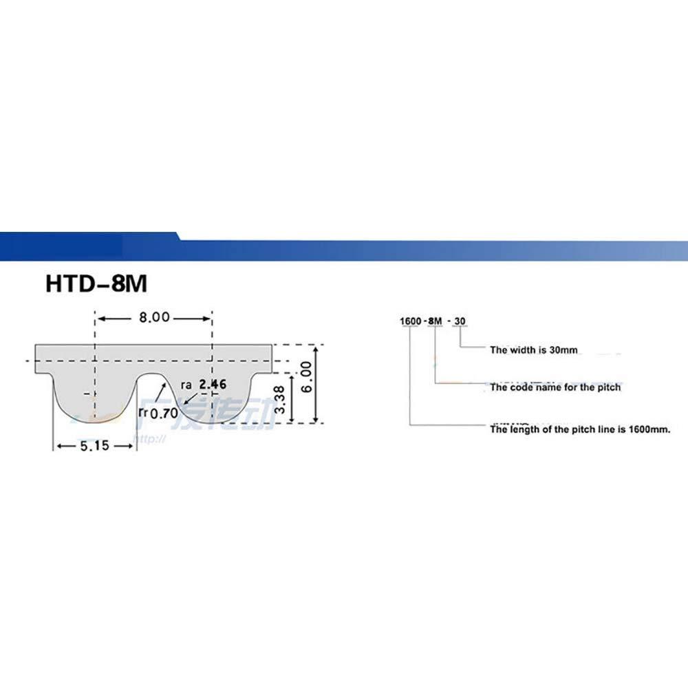 HTD 8M 560 Synchronous Wheel Sprocket Close Loop Timing Pulley Belt 25mm Width 8M-560-25mm width