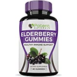 Holunderbeere Gummies (60 Gummies) :: All Natural, Great Taste :: Loaded with Vitamin C :: Supports Digestive & Immune Health :: One Month Supply :: Potent Naturals