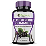 Elderberry Gummies (60 Gummies) – All Natural, Great Taste – Loaded with Vitamin C – Supports Digestive & Immune Health – One Month Supply – Potent Naturals