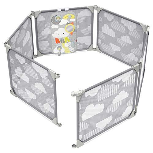 Skip Hop Portable Baby Playard Expandable Enclosure, Silver