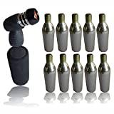 10 CO2 Gas 16g canisters pump cycle tyre inflator bike gas head and grip