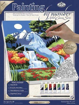 Royal & Langnickel Painting by Numbers Small Canvas Painting Set, Unicorn