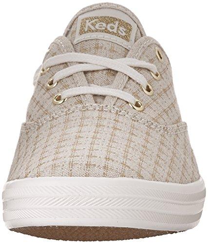 Keds Ch Foil Ticking Dot, Zapatillas de Entrenamiento para Mujer Hueso (Natural)