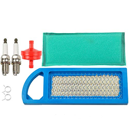 Tune-Up Kit Air Filter Spark Plug for John Deere L100 L105 L107 L108 L1742 LA100 LA105 LA110 LA115 X110 Z225 102 105 108 115 1642HS 1742HS 42-Inch Lawn Mower Tractor Fuel Filter