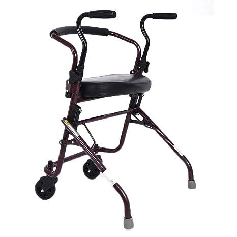 LYXPUZI Walker para Personas Mayores - Silla de Entrenamiento de rehabilitación para Caminantes con Ruedas -