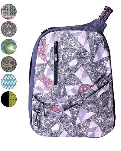 Slope Sling Backpack for Women Juniors Crossbody Bag with 15 inch Laptop Pocket One Shoulder Strap Daypack - Tri-Floral