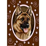 Cheap Best of Breed Pink Paws Garden Flag – German Shepherd