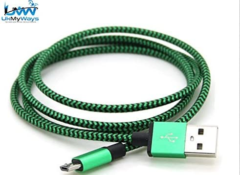 Extra largo, fuerte 3 Meter cable de carga micro USB Smartphone para Samsung Cable de carga USB cargador cable de datos micro USB trenzado de nailon de batería: Amazon.es: Electrónica