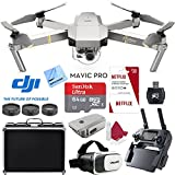 DJI Mavic Pro Platinum Quadcopter Drone with 64GB MicroSD Card and 3 Free Months of Netflix Service Plus Accessories Bundle