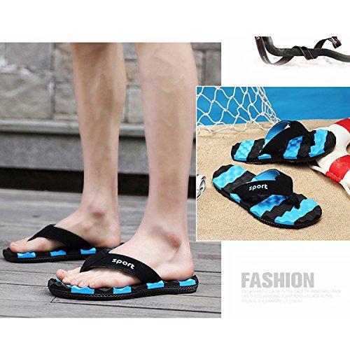 Fondo Libre CHNHIRA Playa Zapatillas Hombre Verano Al Aire Plano Sandalias de Azul Transpirable para r0qXtxvXw