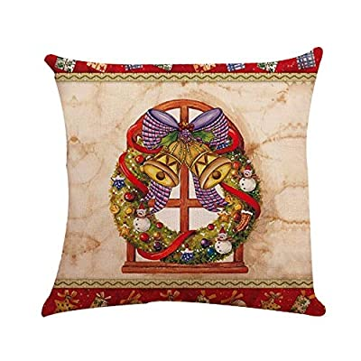 NUWFOR Christmas Sofa Bed Home Decoration Festival Pillow Case Cushion Cover White