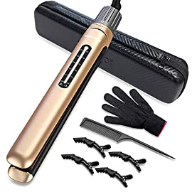 Mixcolor Professional Hair Straightener & Curler Ceramic Tourmaline Water & Dust Proof Plate 2 in 1 Flat Iron Fast Heating-up with Rotating Adjustable Temp 265 to 450℉ Dual Voltage - 51PEc6 DaQL - Professional Hair Straightener & Curler, Mixcolor Ceramic Tourmaline Water & Dust Proof Plate 2 in 1 Flat Iron, 15s Fast Heating-up with Rotating Adjustable Temperature 265 to 450℉. Dual Voltage.