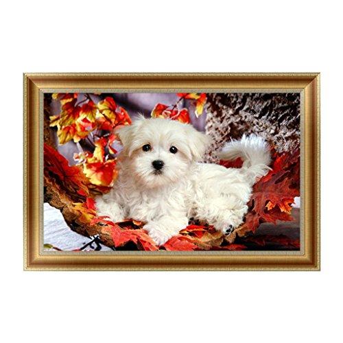 NNDA CO 5D Diamond Embroidery Lovely Dog Painting Cross Stitch DIY Art Craft Wall Decor,1Set
