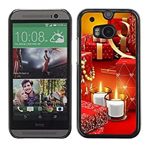 YOYO Slim PC / Aluminium Case Cover Armor Shell Portection //Christmas Holiday Gifts & Candles 1209 //HTC One M8