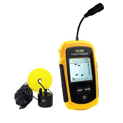 Amazon com: Yeefant 100M Portable Sonar Sensor Fish Finder