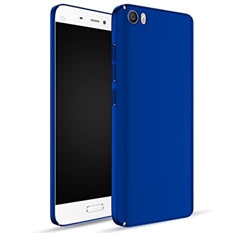 Apanphy Xiaomi 5 Carcasa, Alta calidad Ultra Slim Hard sedoso Scrub Shell plena protección trasera piel siento cover para Xiaomi 5 Azul