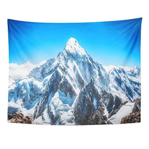 TOMPOP Tapestry Blue Mount Mountain Peak Everest National Park Nepal Range Home Decor Wall Hanging for Living Room Bedroom Dorm 60x80 Inches
