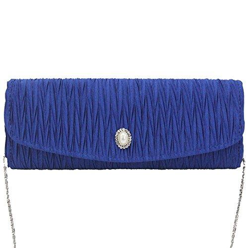 New Ladies Cckuu Party Evening Bag Prom Red Clutch Royal Blue Handbag Classic Envelope Handbag RrdFqnr5w