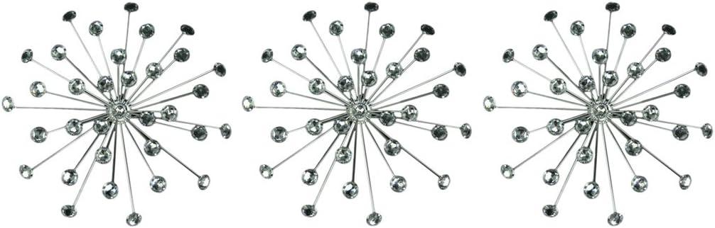 Things2Die4 Jeweled 3D Bursting Star Wall Sculpture Set of 3