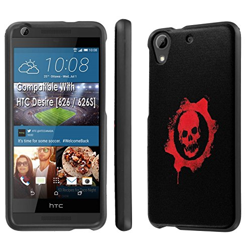 HTC Desire [626] Phone Case [SlickCandy] [Black] Hard Protector Snap Designer Shell Case - [Skull Emblem] for HTC Desire [626 / 626S] (626 Emblem compare prices)