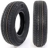 Set of 2 ST225/75R15 LRD T/L Camper, Radial Trailer Tires Load Range D 8 ply Trailer Tire 2257515