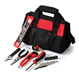 Tool Kit. Best Portable Small Basic Starter Professional Household DIY Hand Mixed Repair Set W/Storage Bag For Home, Garage, Office For Men, Women. Includes Screwdriver, Wrench, Pliers, Etc.