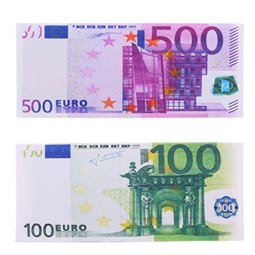 - Kofun Men Women Currency Notes Pattern Pound Dollar Euro Purse Wallet Key Tote Bags 07#