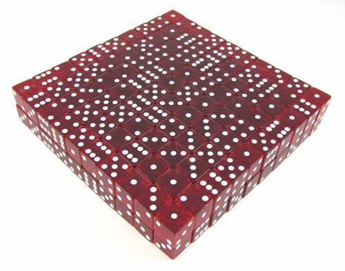 Red Transparent d6 19mm 200ea by Koplow Games (Image #1)