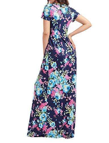 c476acdc10870e ... Boho Maxikleid Blau Lang Partykleid Damen Strandkleider Touchie Kleider  Sommerkleid Sommer Blumen ...