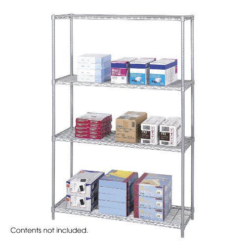 Safco Products 5291GR Industrial Wire Shelving Starter Unit 48
