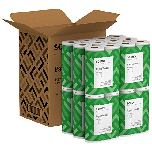 Solimo Basic Flex-Sheets Paper Towels, 24 Value Rolls, White, 102 Sheets per Roll by Solimo (Image #4)'