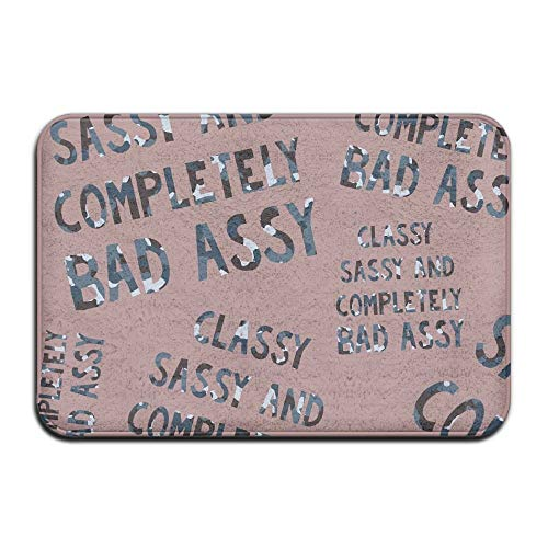 Classy Sassy Bad Assy Camo Unisex Outdoor Mats Indoor Mats for Bath-Rugs Kitchen ()