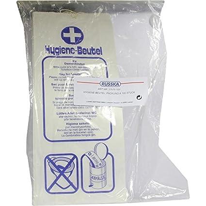 Bolsas higiénicas 100 ST bolsa: Amazon.es: Salud y cuidado ...