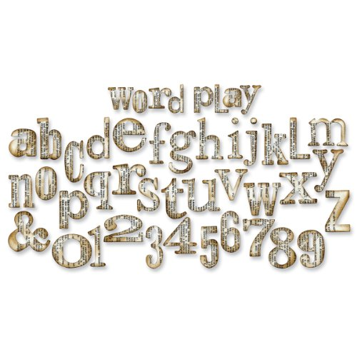 Sizzix Bigz XL Alphabet Die - Word Play by Tim ()