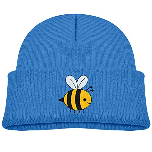 Kids Knitted Beanies Hat Bumblebee Winter Hat Knitted Skull Cap for Boys Girls Blue (Bumble Bee Cap Toddler)