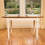 Bronwen Dark Brown & Antique White Dining Table w/ Leaf Extension