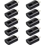 Retevis USB Wall Charger Plug Charger Adapter 5V 1A Charger for Retevis H-777 RT22 RT27 RT21 Walkie Talkies Phone (10 Pack)