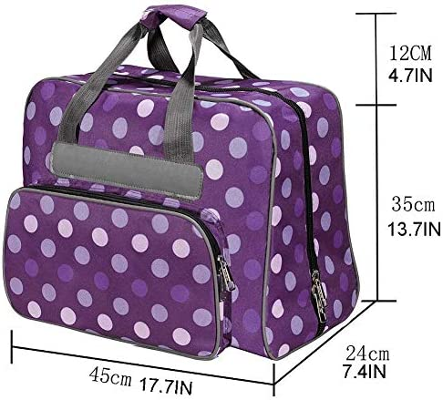 Bolsa de máquina de coser extra grande con bolsillos y asas, bolsa ...