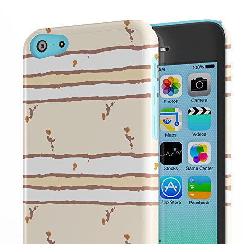 Koveru Back Cover Case for Apple iPhone 5C - Brown fencing