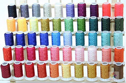 50 Cones Polyester Embroidery Thread BROTHER / BABYLOCK COLORS 40wt 1100yards from ThreadNanny by ThreadNanny