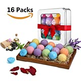 U-KISS Bath Bomb Gift Set 16 PCS, All Natural Essential Oil Bath Bomb, Birthday Gifts for her, Teen girls, Valentine gift