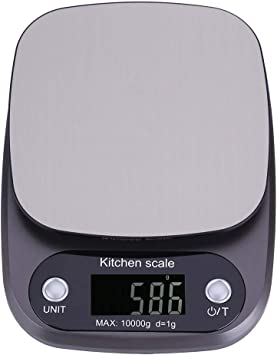 1g-10kg White Digital LCD Electronic Kitchen Cooking Food Parcel Weighing Scales