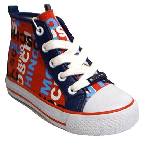 Moschino Sneaker Halbschuhe rot blau weiß Unisex
