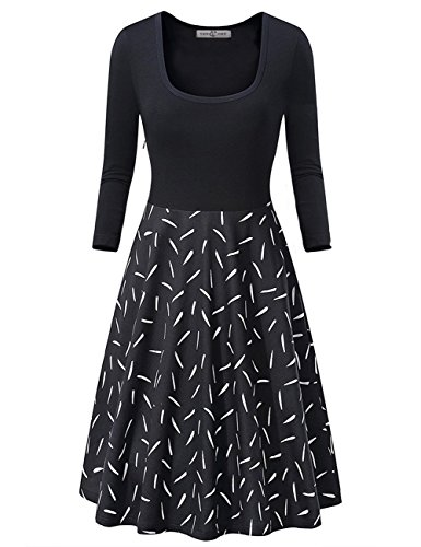 3 4 sleeve fitted dress - 2