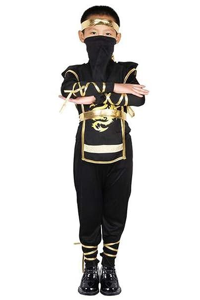 Amazon.com: Kids Boys Ninja Costume Outfit Halloween ...