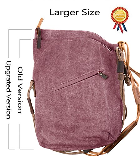 Purple tm Crossbody Retro Fansela Messenger Satchel Bag Oversized Bag Hobo Canvas vxxwd1qHUt